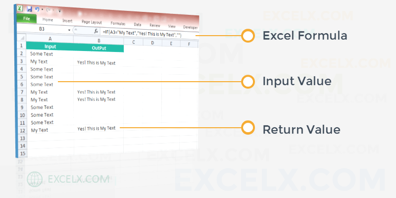 Excel Formula If Cell Contains Text Then Return Value in Another Cell
