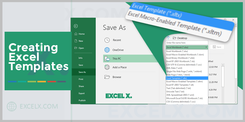 Creating Excel Template
