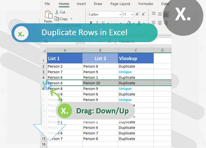 Duplicating Rows in Excel