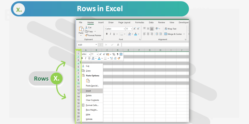 Rows in Excel