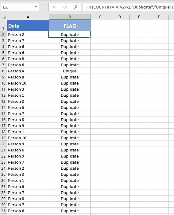 Formula for checking duplicates - Mark