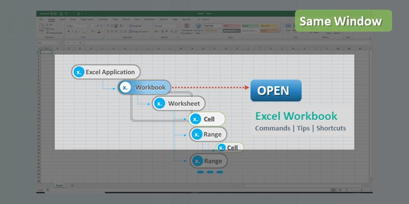 Open Multiple Excel Workbook Same Window
