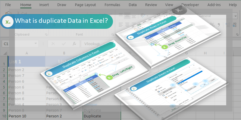 What is duplicate Data in Excel?