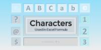 Excel Characters