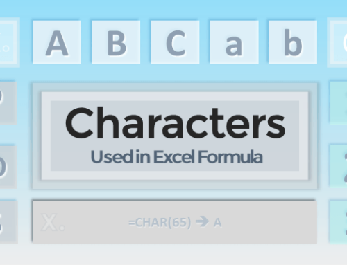 Characters in Excel