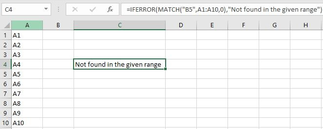 IFERROR to Check if a value found in List of values
