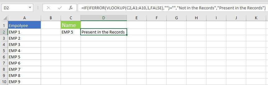 IF IFERROR and VLOOKUP