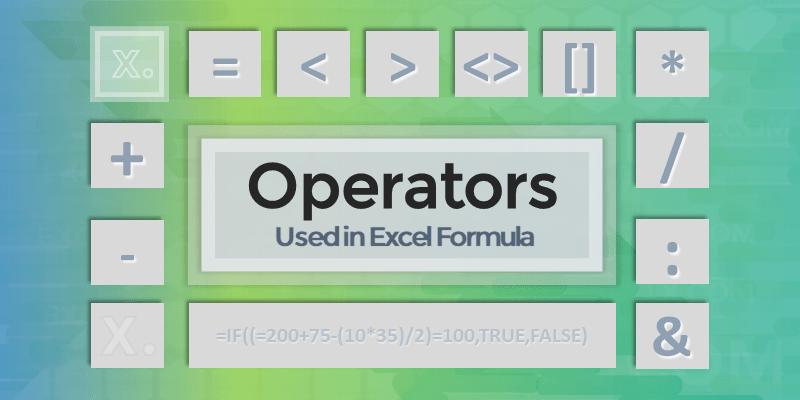 Operators in Excel